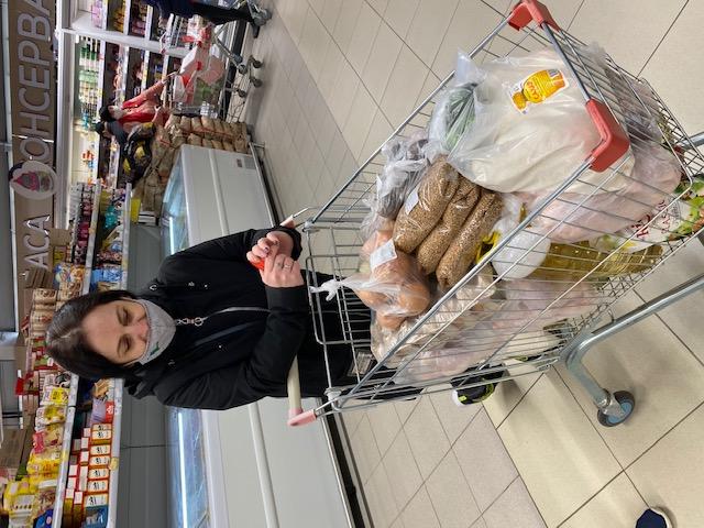 Opération aide alimentaire avril 2021 à Novozybkov en Russie