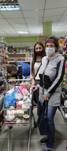 Opération aide alimentaire avril 2021 à Ivankiv en Ukraine