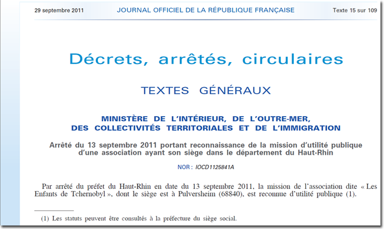 L'attestation d'inscription au tribunal d'instance