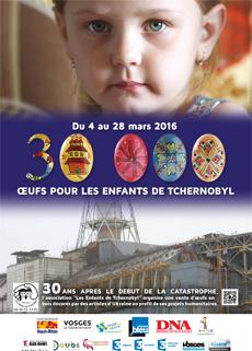 Affiche 2016 de l'opération 30 000 œufs pour les Enfants de Tchernobyl