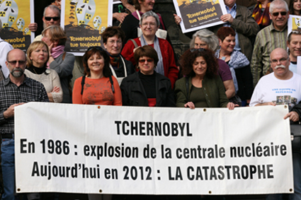 Photo du rassemblement commémoratif à Mulhouse en 2011.