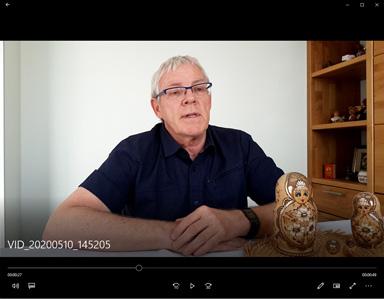 Lien vers la vidéo de l'annonce de l'annulation de l'accueil ukrainien