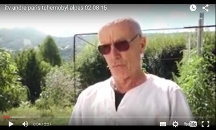 Vue d'écran de l'interview d'André Paris par ITV
