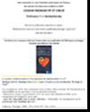 Couverture du rapport Césium radioactif et coeur, du Professeur Yuri BANDAZHEVSKI