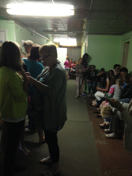 Photo des mesures des enfants à l'Hôpital de Naroditchi N°1