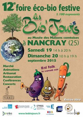 Affiche de la foire bio de Nancray