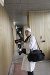Thierry Gachon dans la centrale de Tchernobyl