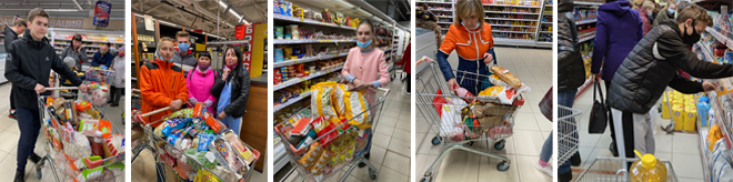 Photos de l'opération d'aide alimentaire en Russie et Ukraine Avrl 2021
