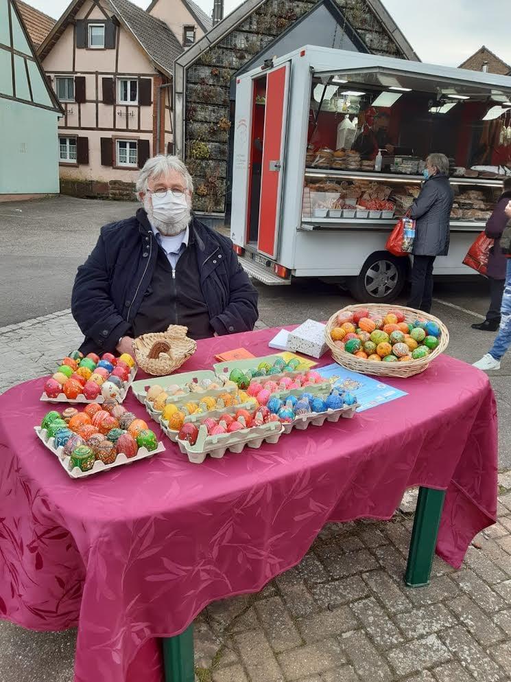 Robert Haessler / Stand sur le marché de Quatzenheim