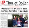 Miniature de l'article de l'Alsace du 13 mai 2015 : Des vacances en Alsace pour changer d�air et se requinquer