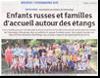 Miniature de l'article de presse des DNA du 15 ao�t 2015 : Enfants russe et familles d'accueil autour des �tangs
