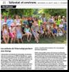 Miniature de l'article de L'Alsace du 21 ao�t 2015 : Les enfants de Tchernobyl p�chent aux �tangs