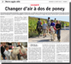 Miniature de l'article de L'Alsace du 21 ao�t 2015 : Changer d'air � dos de poney