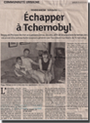 Miniature de l'article des DNA du 27 août 2015 : Echapper à Tchernobyl
