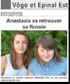 Miniature de l'article de Vosges Matin du 29 août 2015 : Anastasia va retrouver sa Russie