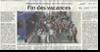 Miniature de l'article des DNA, page Haut-Rhin, du 29 ao�t 2015 : Fin des vacances