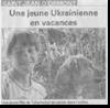 Miniature de l'article de Vosges Matin du 29 Juillet 2015 : Une jeune ukrainienne en vacances