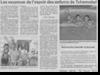 Miniature de l'article de Vosges Matin du 30 Juillet 2015 : Les vacances de l'espoir des enfants de Tchernobyl