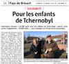 Miniature de l'Alsace du 12 mars 2016 : Pour les enfants de Tchernobyl