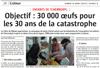 Miniature de l'Alsace du 12 mars 2016 : Objectif : 30 000 oeufs pour les 30 ans de la catastrophe