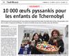 Miniature de l'Alsace du 13 mars 2016 : 10 000 oeufs pyssankis pour les enfants de Tchernobyl