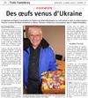 Miniature de l'Alsace du 16 mars 2016 : Des oeufs venus d'Ukraine