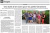 Lien vers l'article de presse de Vosges Matin du 02 août 2016