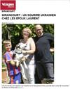Lien vers l'article de presse de Vosges Matin du 20 Juillet 2016 : Girancourt : un sourire ukrainien chez les époux Laurent