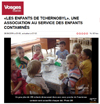 Lien vers l'article de presse de Vosges Matin du 26 avril 2016 : «Les enfants de Tchernobyl», une association au service des enfants contaminés