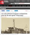 Lien vers l'article de RFi : Les sols d'Alsace toujours contaminés près de 30 ans après Tchernobyl