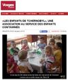 Miniature de l'article de Vosges Matin du 26 avril 2016 : Les enfants de Tchernobyl, une association au service des enfants contaminés