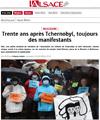 Miniature de l'Alsace : Trente ans apr�s Tchernobyl, toujours des manifestants