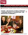 Miniature de l'article de Lien vers l'article de Vosges Matin du 2 avril 2016 : une nouvelle famille pendant 3 semaines grâce à l'association « les enfants de Tchernobyl »