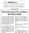 Miniature de l'article de l'Alsace / Mulhouse / Des oeufs pour les enfants de Tchernobyl