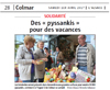 Miniature de l'article de l'Alsace / Colmar / Des « pyssankis » pour des vacances
