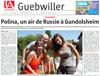 Lien vers l'article de presse de l'Alsace du 10 août 2017 : Polina, un air de Russie à Gundolsheim