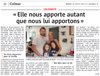 Lien vers l'article de presse de l'Alsace du 22 août 2017 : Elle nous apporte autant que nous lui apportons