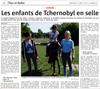 Lien vers l'article de presse de l'Alsace du 23 août 2017 : Les enfants de Tchernobyl en selle