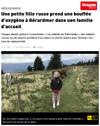 Lien vers l'article de presse de l'Alsace du 24 août 2017 : Une petite fille russe prend une bouffée d'oxygène (...)