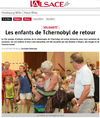 Lien vers l'article de presse de l'Alsace du 11 juillet 2017 : Les enfants de Tchernobyl de retour
