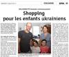 Lien vers l'article de presse des DNA du 12 juillet 2017 : Shopping pour les enfants ukrainiens