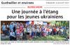 Lien vers l'article de presse de l'Alsace du 16 juillet 2017 : Une journée à l'étang pour les jeunes ukrainiens