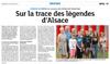 Lien vers l'article de presse des DNA du 23 juillet 2017 : Sur les traces des légendes d'Alsace