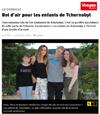 Lien vers l'article de presse de Vosges Matin du 24 juillet 2017 : Bol d'air pour les enfants de Tchernobyl