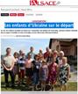 Lien vers l'article de presse de l'Alsace du 27 juillet 2017 : Les enfants d'Ukraine sur le départ