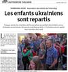 Lien vers l'article de presse des DNA du 03 août 2017 : Les enfants ukrainiens sont repartis