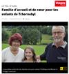 Lien vers l'article de presse de Vosges Matin du 4 août 2017 : Famille d'acceuil de coeur pour les enfants de Tchernobyl