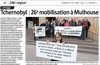 Lien vers l'article de presse de l'Alsace du 23 avril 2017 : Tchernobyl : 26ème mobilisation à Mulhouse