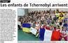 Lien vers l'article de presse de l'Alsace du 07 juillet 2018 : Les enfants de Tchernobyl arrivent