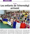 Lien vers l'article de presse de s DNA du 07 juillet 2018 : Les enfants de Tchernobyl arrivent